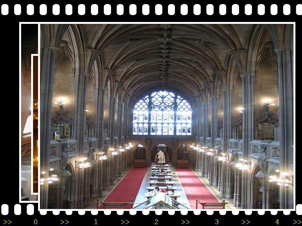The John Rylands Library •M•Manchester, England •ก•ก่อตั้งโดย Mrs. Enriqueta Augustina Rylands เพื่อรำลึกถึงสามีของ เธอ Mr. John Rylands •ณ•ณ ปัจจุบัน