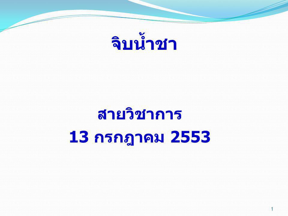 1 จิบน้ำชา สายวิชาการ 13 กรกฎาคม 2553