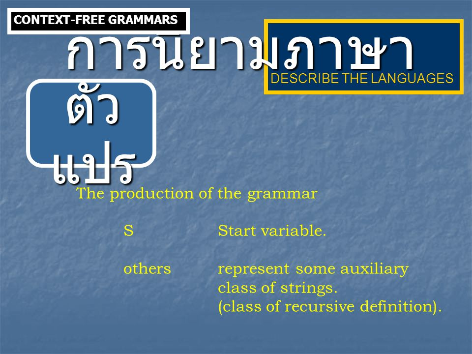 Given a context-free grammar G with  = { a, + } andS  S + S | a The sentence a+a+a is in L(G) which has two derivations.