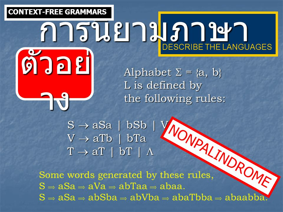 An A-derivable variable in a context-free grammar G = ( V, , S, P ) is defined as follows: 1.