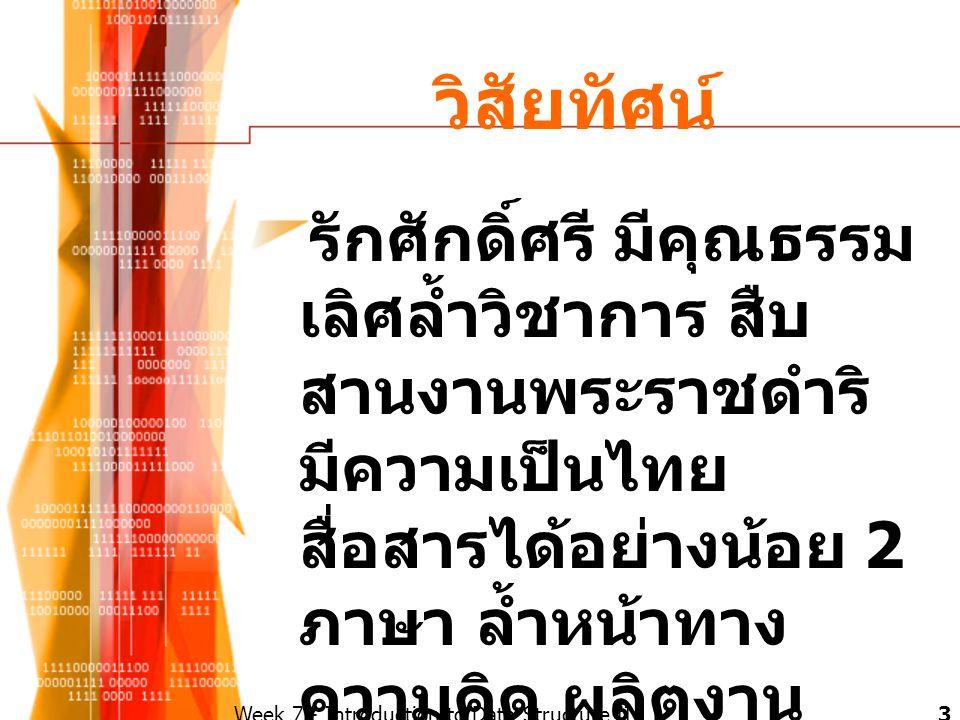 วิสัยทัศน์ รักศักดิ์ศรี มีคุณธรรม เลิศล้ำวิชาการ สืบ สานงานพระราชดำริ มีความเป็นไทย สื่อสารได้อย่างน้อย 2 ภาษา ล้ำหน้าทาง ความคิด ผลิตงาน อย่างสร้างสร