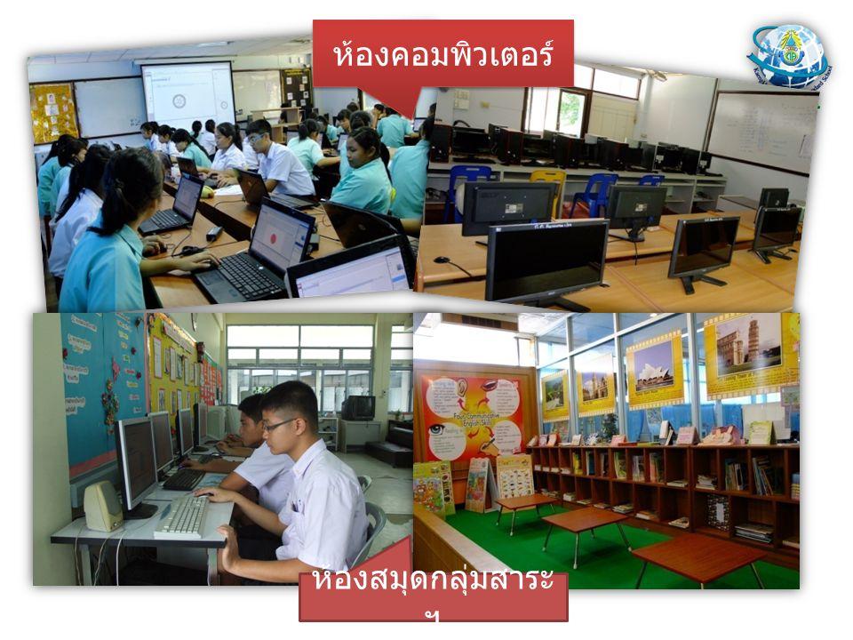ห้องคอมพิวเตอร์ ห้องสมุดกลุ่มสาระ ฯ