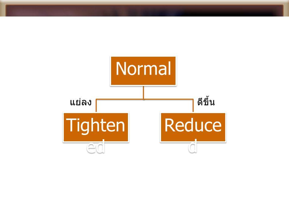 Normal Tighten ed Reduce d แย่ลงดีขึ้น