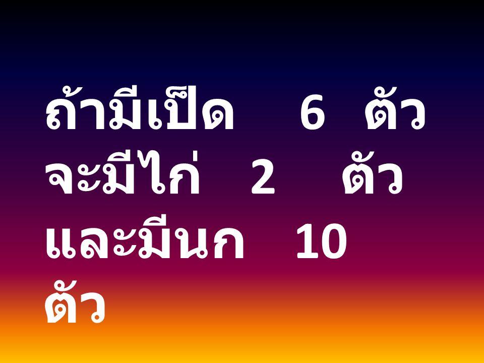 อัตราส่วนของ A : B เป็น 2 : 6 = 2  4 : 6  4 = 8 : 24 อัตราส่วนของ B : C เป็น 8 : 3 = 8  3 : 3  3 = 24 : 9 อัตราส่วนของ A : B : C เป็น 8 : 24 : 9