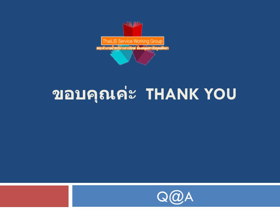 ขอบคุณค่ะ THANK YOU Q@A