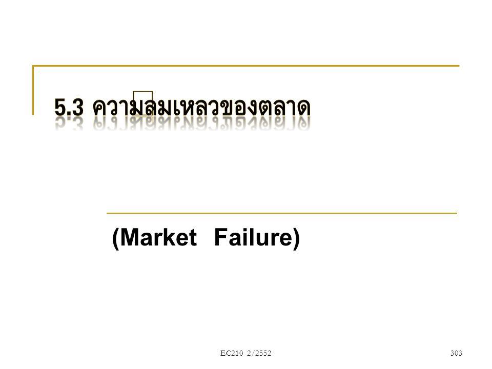 EC210 2/2552 (Market Failure) 303