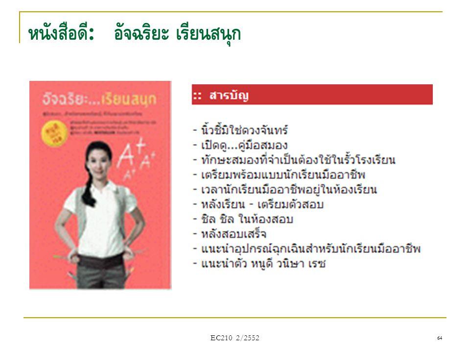 หนังสือดี : อัจฉริยะ เรียนสนุก EC210 2/2552 64