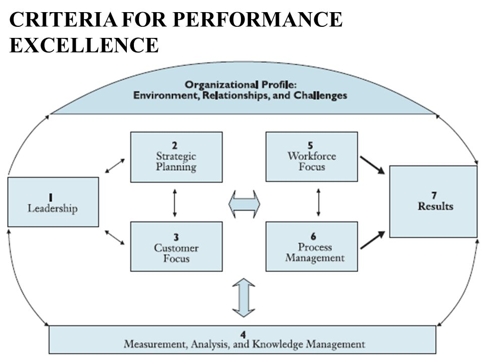 CRITERIA FOR PERFORMANCE EXCELLENCE 9