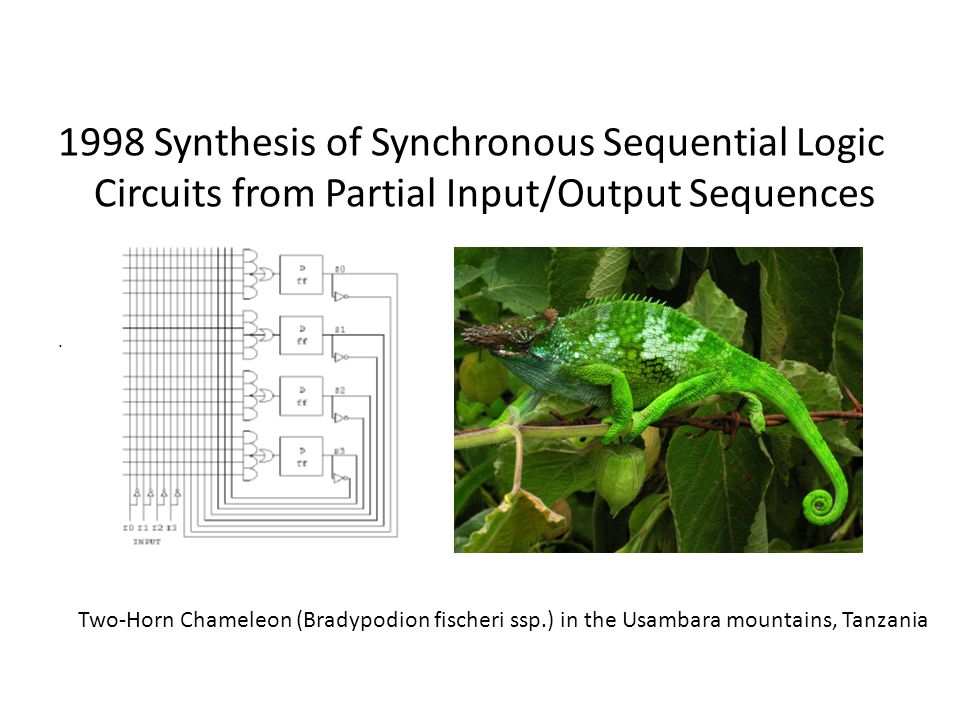 1998 Synthesis of Synchronous Sequential Logic Circuits from Partial Input/Output Sequences.