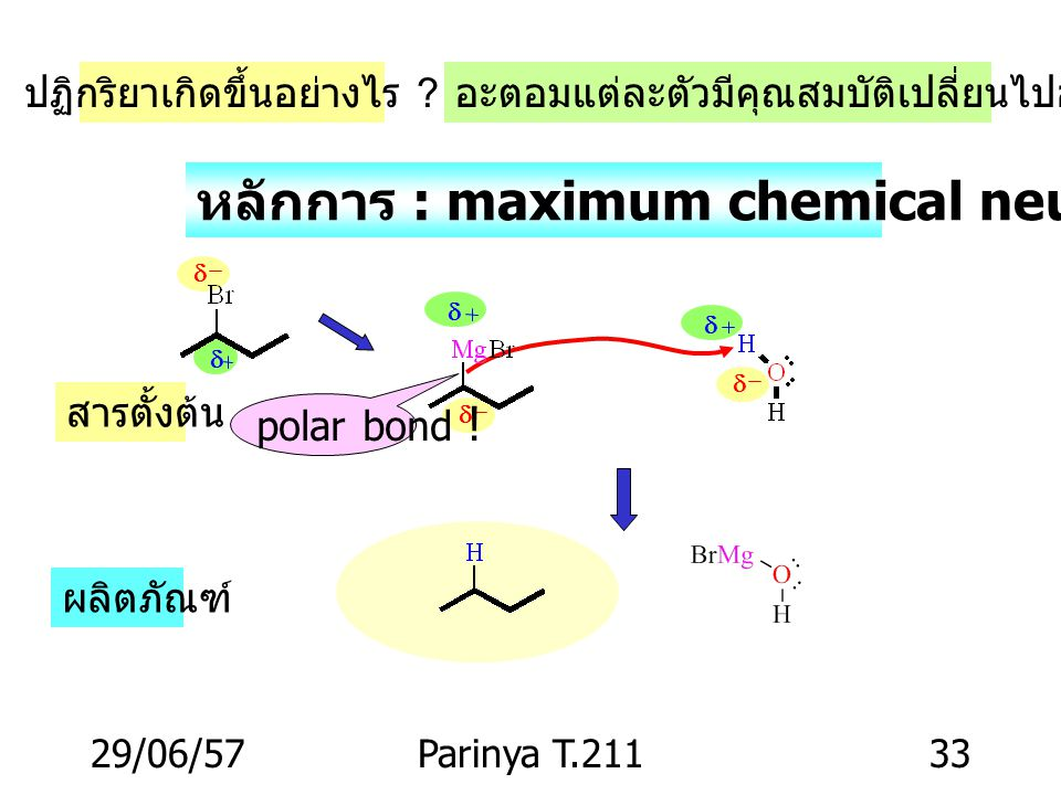 29/06/57Parinya T.21132 MgH2OH2O sec-Butyl bromide n-Butane Grignard reagent sec-Butylmagnesium bromide