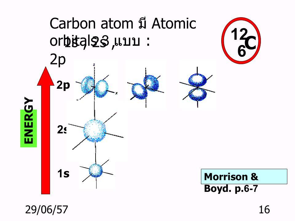 29/06/5715 Atomic orbitals: บริเวณที่ อิเล็คตรอนโคจรในอะตอม