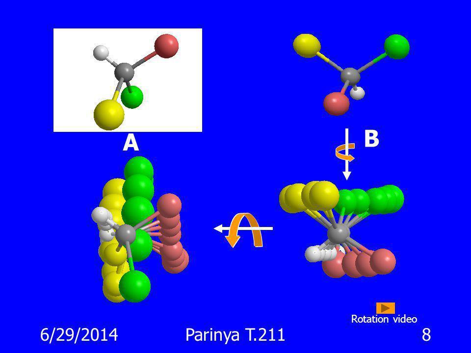 6/29/2014Parinya T.2117 จะเกิดอะไรขึ้น … ถ้าหมุนรูปแบบ Fischer Projection ไป 90 o ? AB Cl Me BrH ClMe B r H
