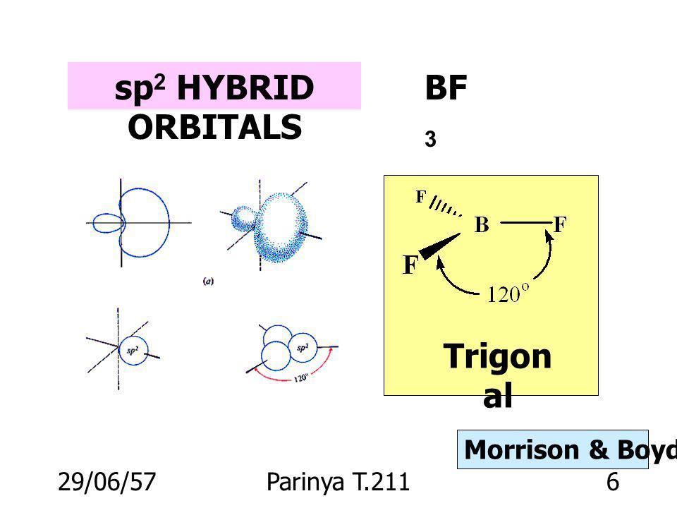 29/06/57Parinya T.2115 sp HYBRID ORBITALS ClBeCl 180 o Morrison & Boyd p. 12
