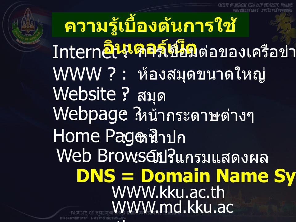 Internet .WWW . Website . Webpage . Home Page . Web Browser .