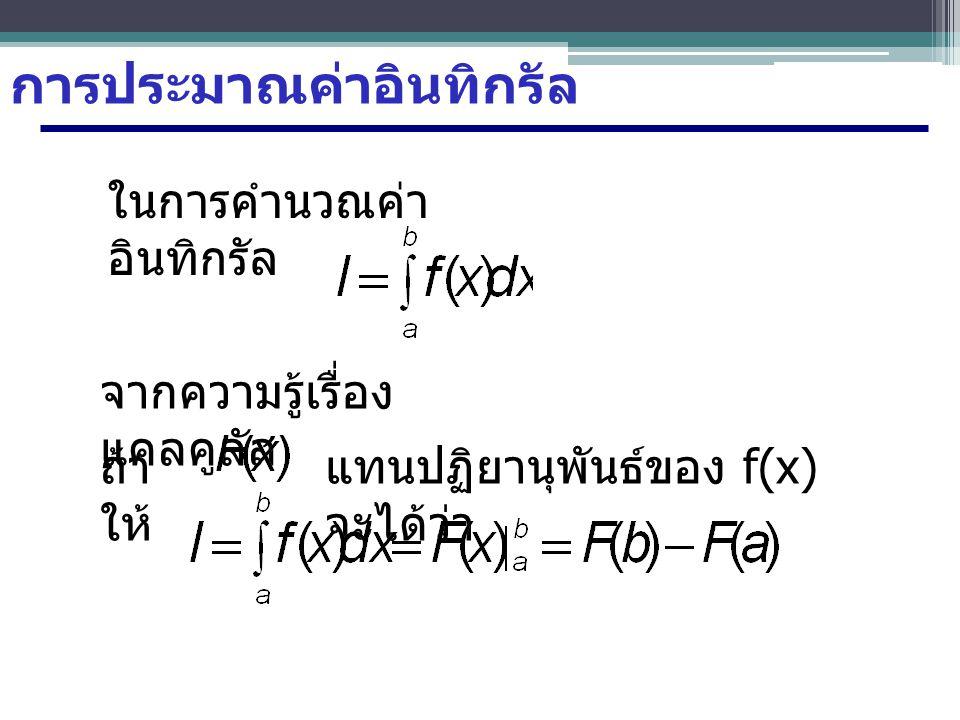 วิธีทำ กำหนดให้ n=6 : จะได้ว่าจำนวนช่วงหาได้จาก ดังนั้นจะได้ช่วงคือ X=0 X=2 X=1/6X=1/3X=1/2 X=2/3X=5/6
