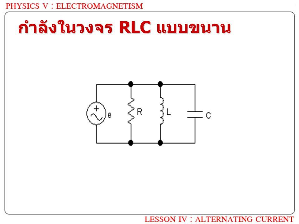 กำลังในวงจร RLC แบบขนาน ?
