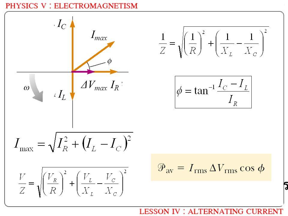 ICIC ILIL I max ΔV max IRIR Power = ? เหมือนกันกับการต่ออนุกรมหรือไม่ ?