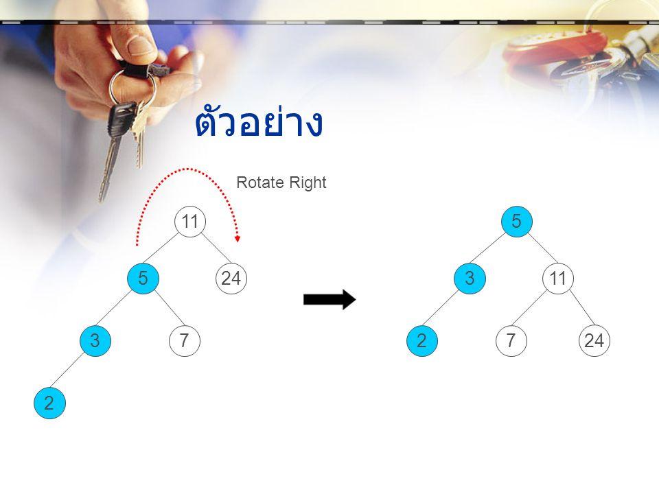 ตัวอย่าง 3 11 524 7 2 2 5 311 7 24 Rotate Right