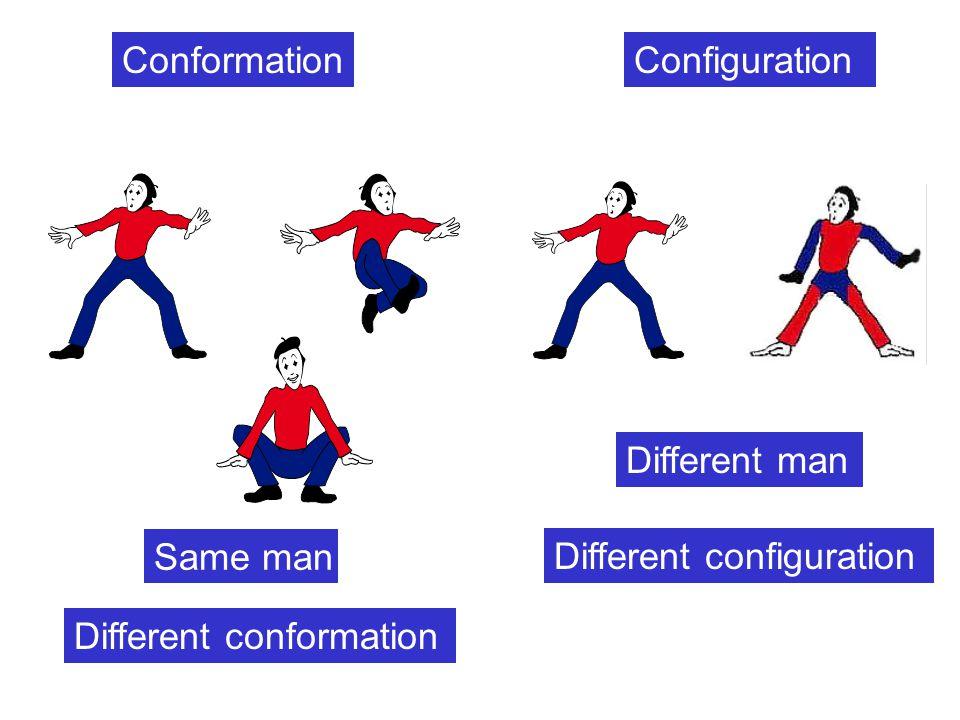 Stereoisomers โมเลกุลที่มีลำดับการ เชื่อมต่อกันของอะตอม เหมือนกันแต่การจัดเรียง ตัวใน ที่ว่างแตกต่างกัน