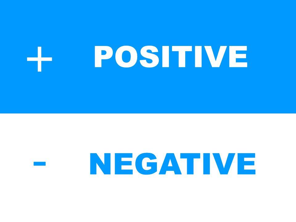 +-+- POSITIVE NEGATIVE
