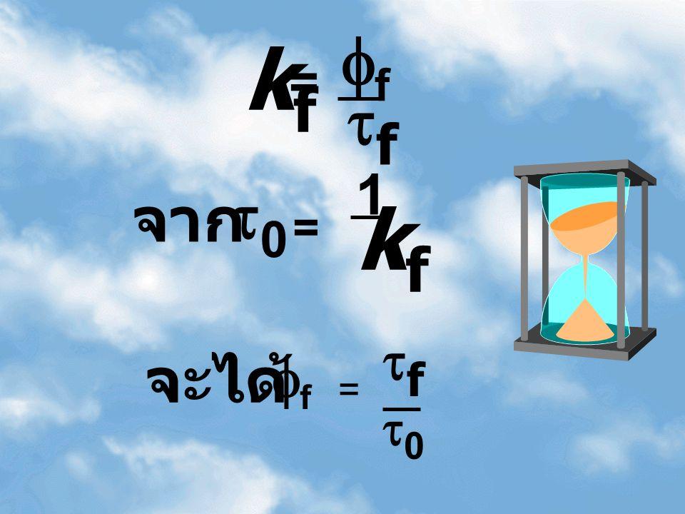 00 = 1 kfkf kfkf = ff ff จะได้ ff = ff 00