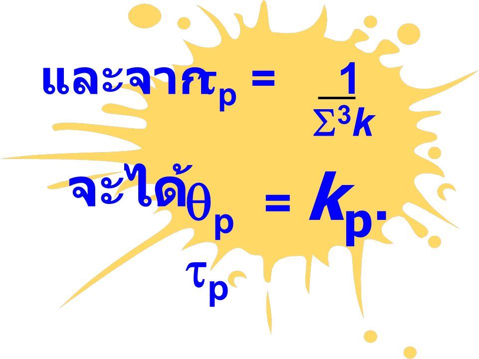 และจาก  p = 1 kk จะได้  p = k p.  p