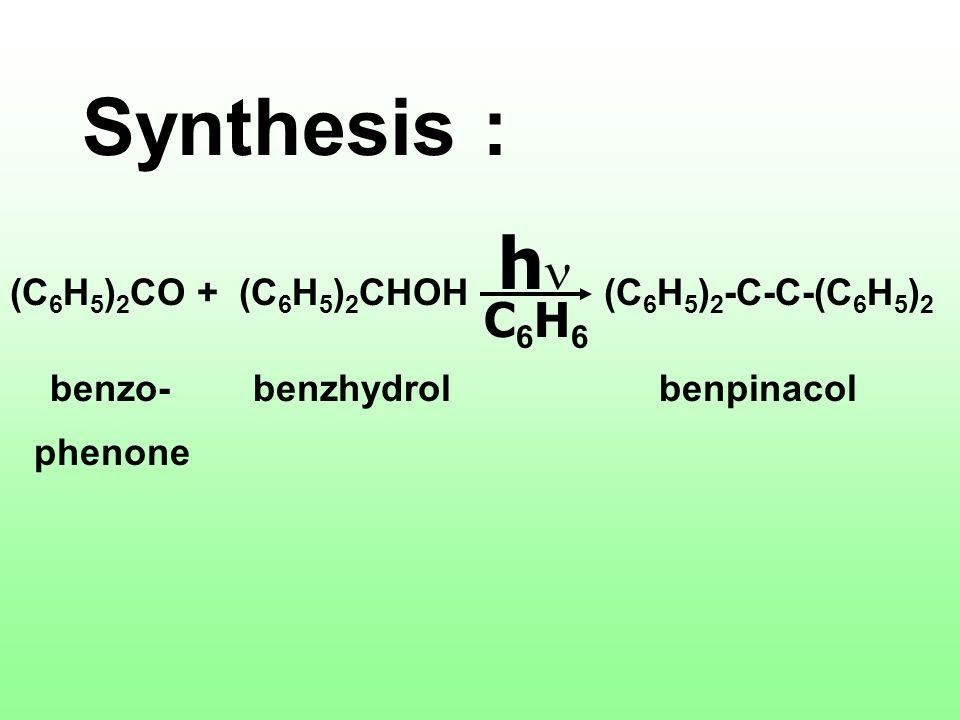 - การสังเคราะห์แสง (Synthesis) - การสลายตัว (Decomposition) - การเปลี่ยนไอโซเมอร์ (Isomeric Change) - ปฏิกิริยารีดอกซ์ (Redox Reaction) - ปฏิกิริยาโพล