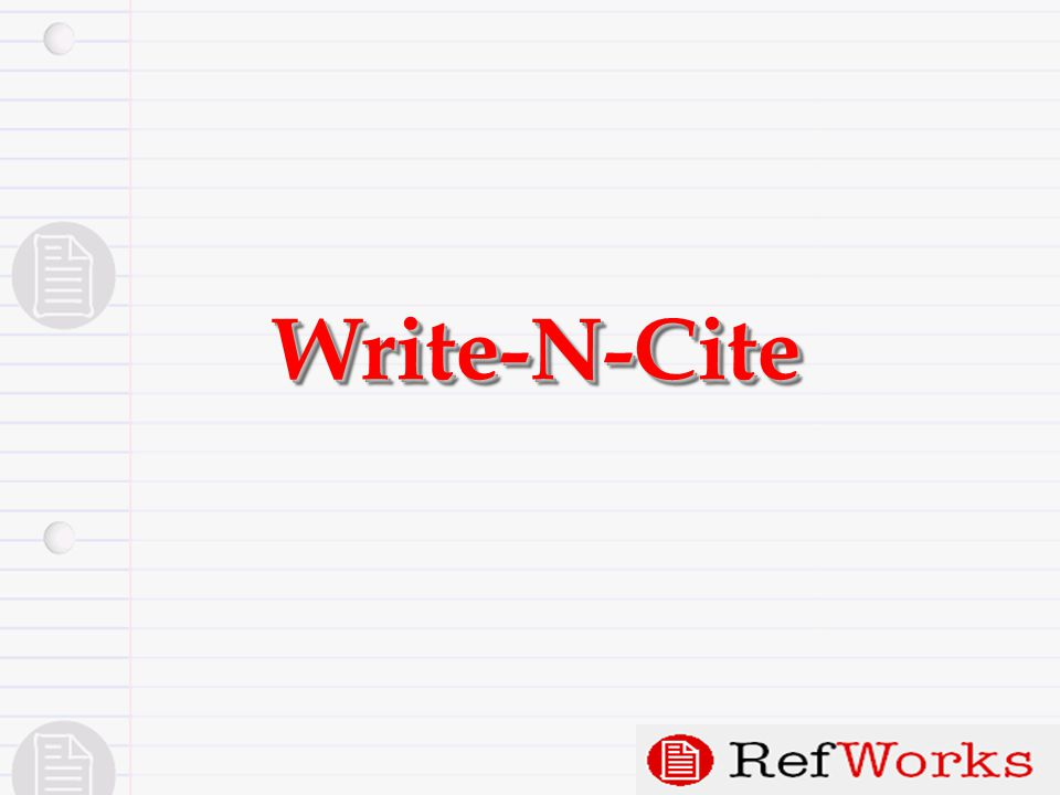 Write-N-CiteWrite-N-Cite