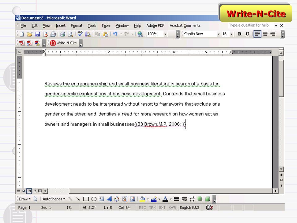 Write-N-Cite