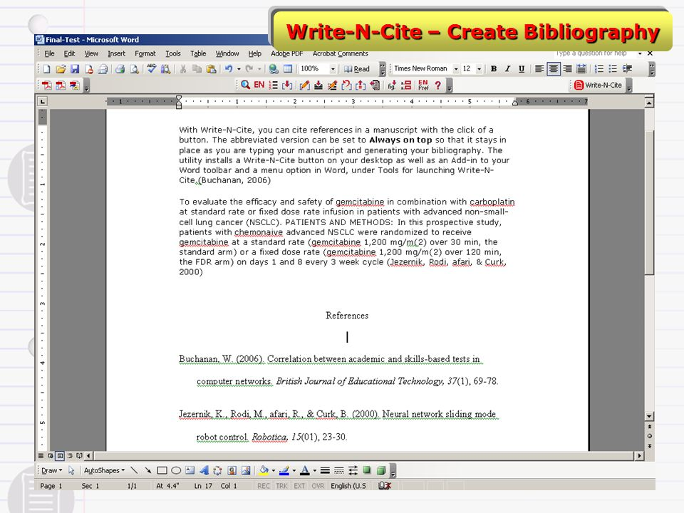 Write-N-Cite – Create Bibliography
