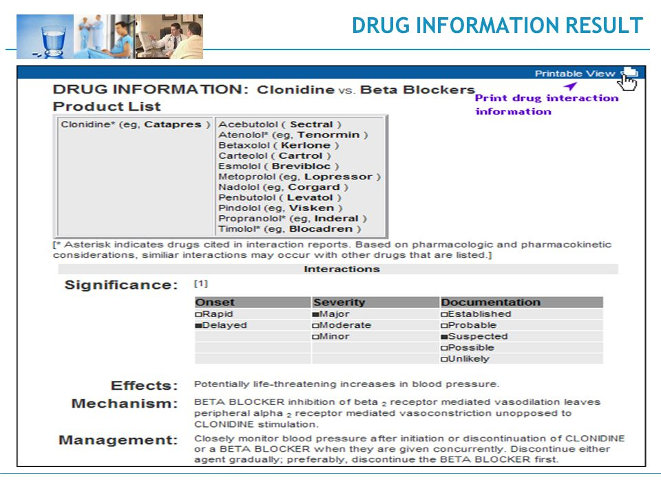 DRUG INFORMATION RESULT