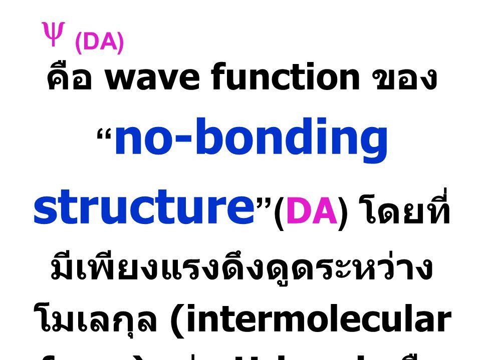  D + A - )  DA) S 0  DAC) S 1  DAC) hh ground state:  S 0 = a  (DA) + b  (D + A - ) excited state:  S 1 = a  (D + A - ) - b  (DA)
