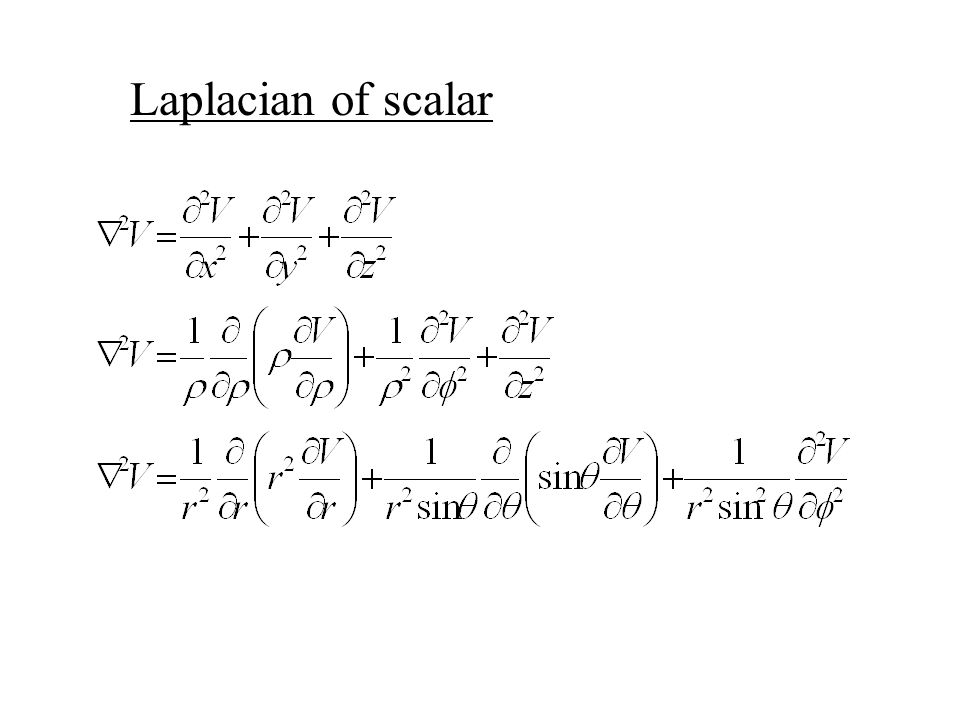 Laplacian of scalar