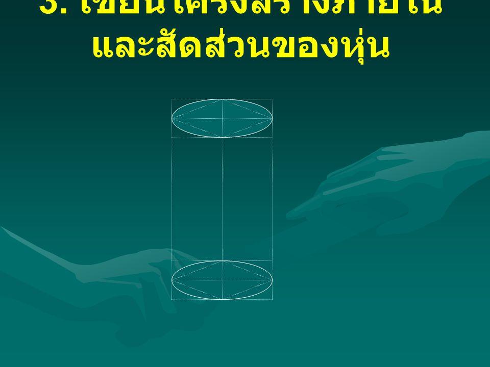 3. เขียนโครงสร้างภายใน และสัดส่วนของหุ่น