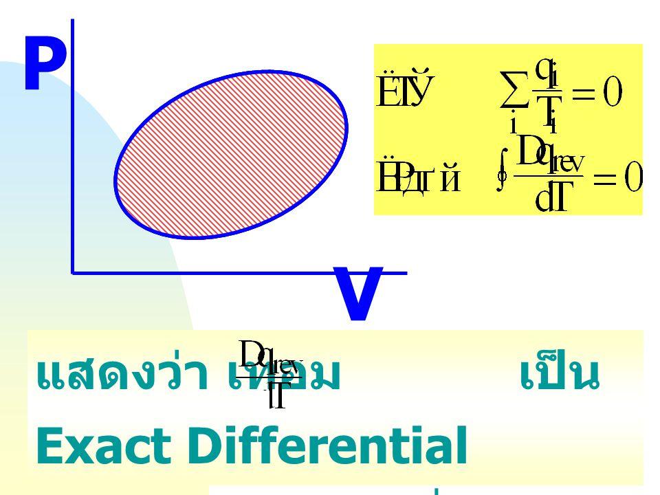 เขียนเป็นสมการรวมได้เป็น ( สำหรับการพิจารณาจากทุก ๆ Carnot cycles ใน PV - curve) หรือ