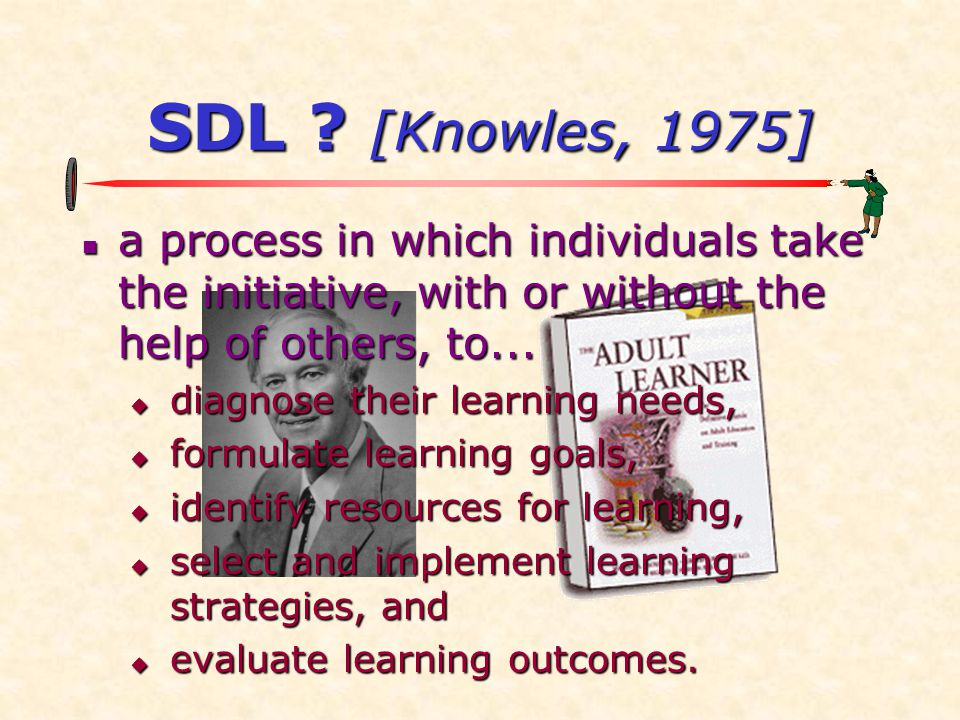 Myth 5  Myth: Self-Directed Learning Activities Are Limited Primarily to Reading and Writing  to correct it:  interview  discussion  agency visitation  study tour  practicum  on-line community