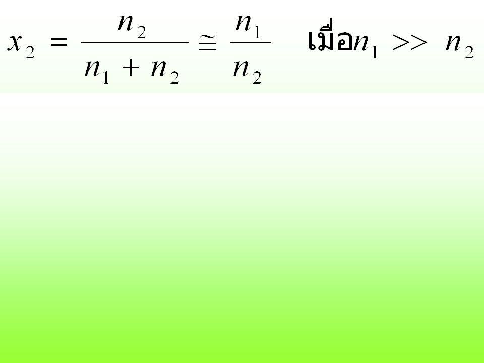 ถ้า solvent w 1 กรัม ผสมกับ solute w 2 กรัม solvent w 1 กรัม มี solute โมล solvent 1000 กรัม มี solute โมล