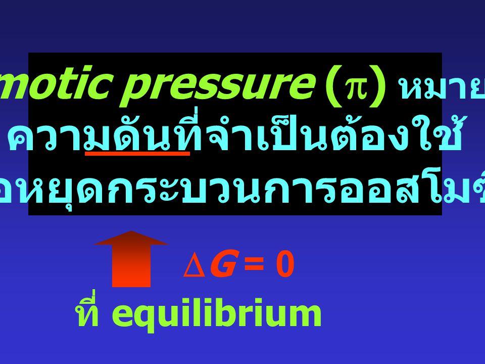 4. ความดันออสโมติก The Osmotic Pressure