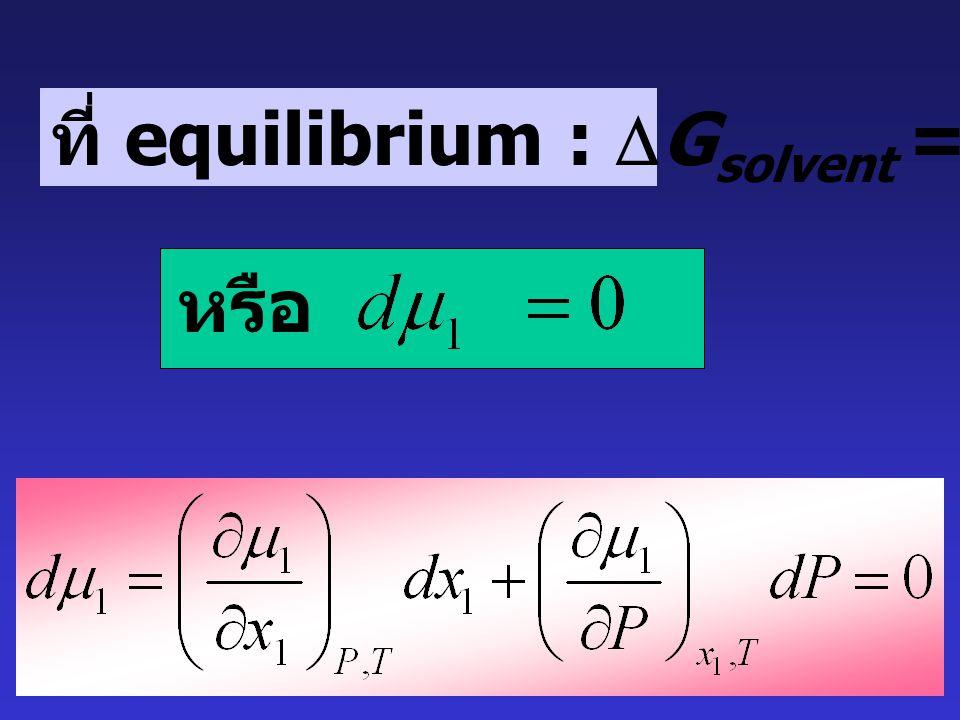 ที่สภาวะเริ่มต้น : x 1 = 1 ระบบมีความดันเท่ากับ P 0 ที่สภาวะสุดท้าย x 1 ใด ๆ ระบบมีความดันเท่ากับ P 0 + 