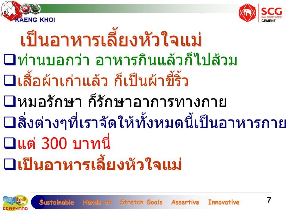Sustainable Hands-on Stretch Goals Assertive Innovative Sustainable Hands-on Stretch Goals Assertive Innovative KAENG KHOI 18  ไม่ใช่พ่อแม่  เพราะเงิน 300 บาทนี่  เสกให้คนตาบอดขลัง  ถ้าคุณย่าไม่มีเงิน  จะรับขวัญหลานได้อย่างไร .