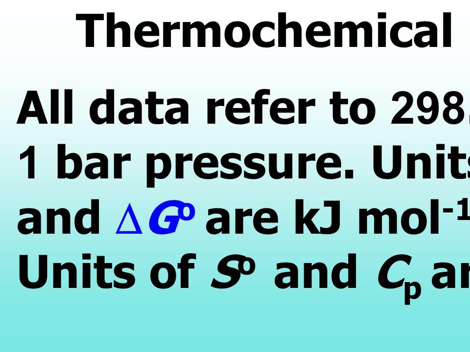 พิจารณาสมการ a A + b B ฎ c C + d D การหา ค่า  G หาได้จากค่า  G o f  G o f = Gibbs's free energy of formation  G o =  (  p (  G o f ) P ) - 