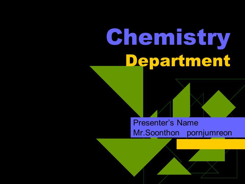 บุคลากร • ดูแล ห้องปฏิบัติกา ร 3601 และ 3603 • โครงงาน เคมี • กิจกรรม ศึกษาดูงาน