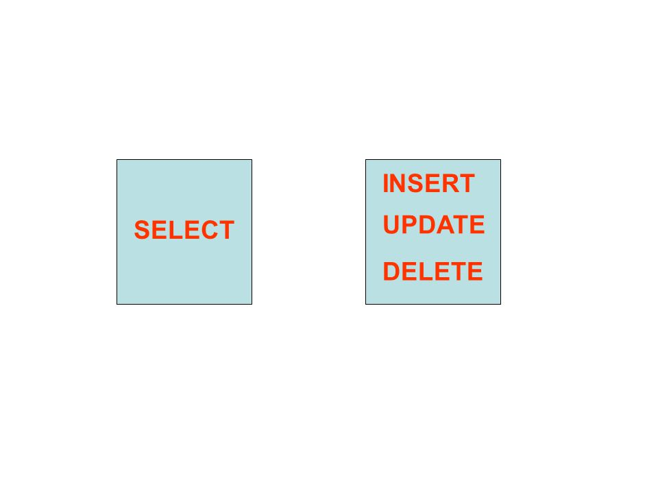SELECT INSERT DELETE UPDATE