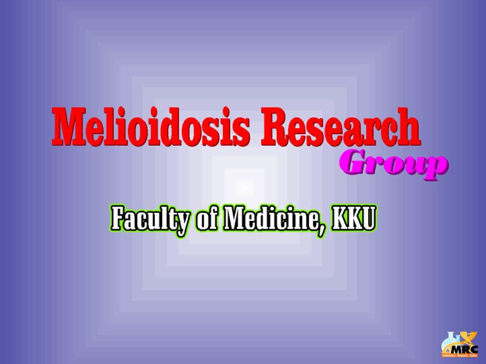 ความเป็นมา  เป็นการรวมตัวของนักวิจัยที่สนใจโรค melioidosis โดยในระยะแรกมีผู้เริ่มต้น 7-8 ท่าน  จัดตั้งกลุ่มตั้งแต่ปี 2543 โดยเริ่มมี การเขียนโครงการวิจัยร่วมกัน  ได้รับการสนับสนุนการดำเนินการจาก คณะแพทยศาสตร์ เริ่มตั้งแต่ปี 2543  ได้เชิญชวนผู้สนใจเข้าร่วมกลุ่มมาก ขึ้น