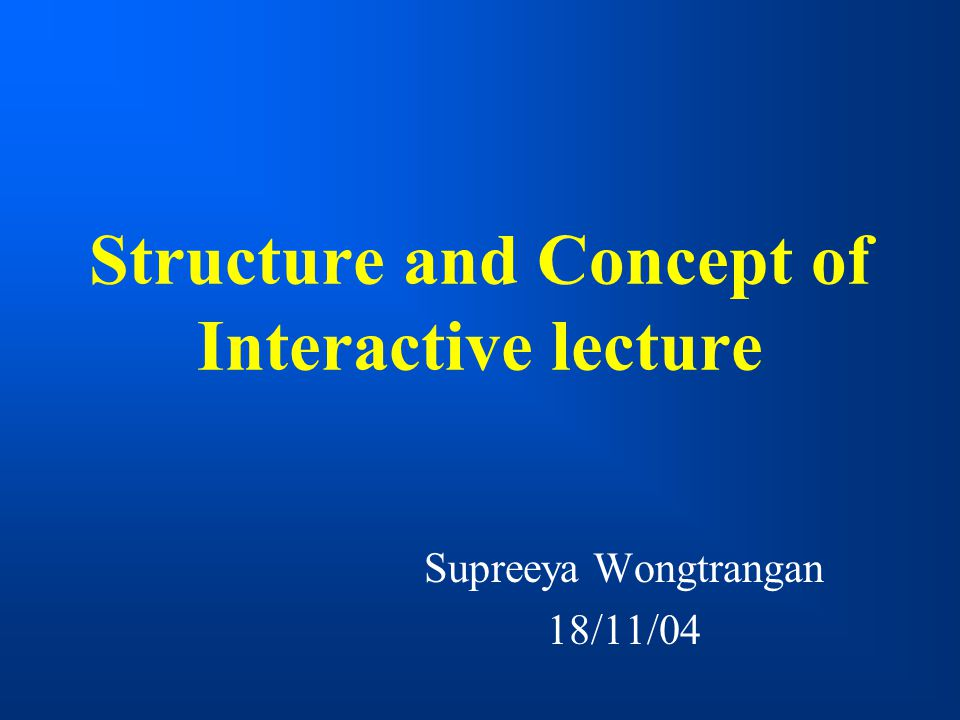 Is the lecture an effective method of teaching?
