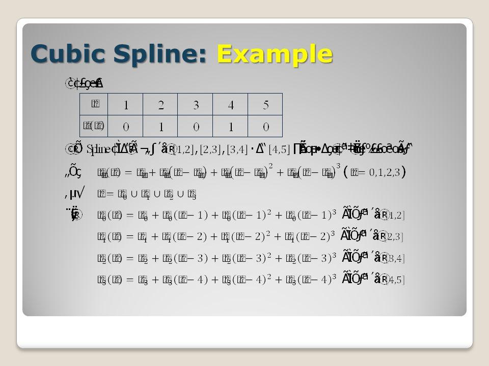 Cubic Spline: Example