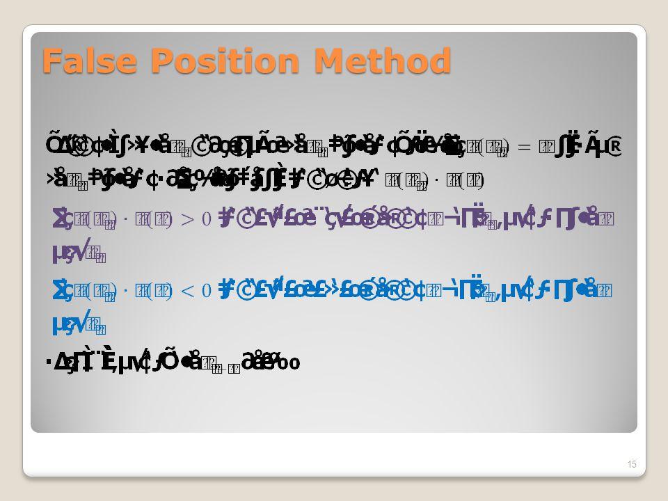 False Position Method 15