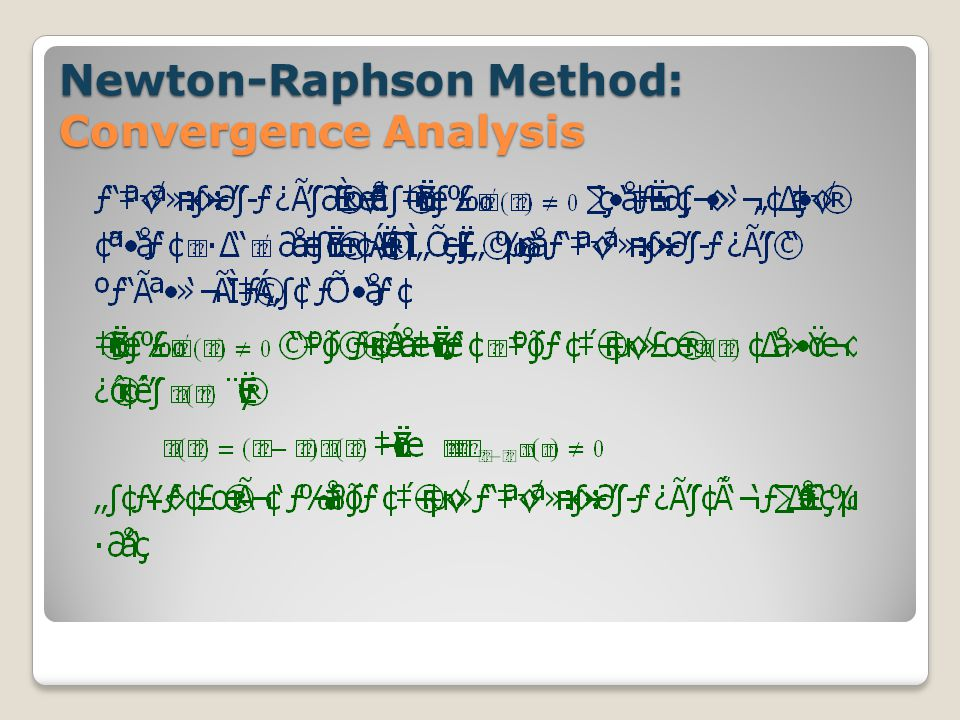 Newton-Raphson Method: Convergence Analysis