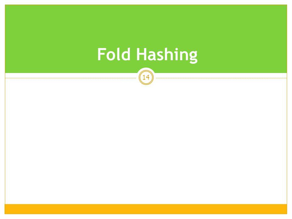 14 Fold Hashing