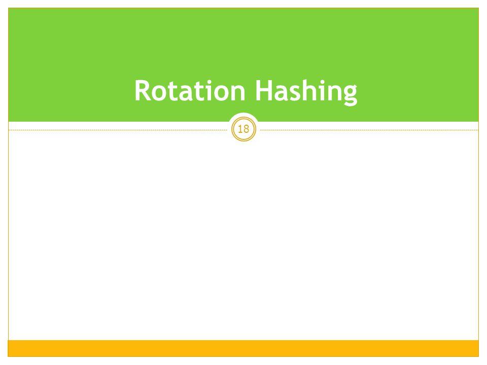 18 Rotation Hashing